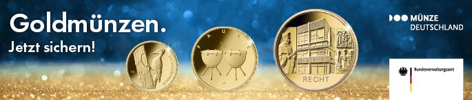 Anzeige Goldmünzen Deutsche Münze